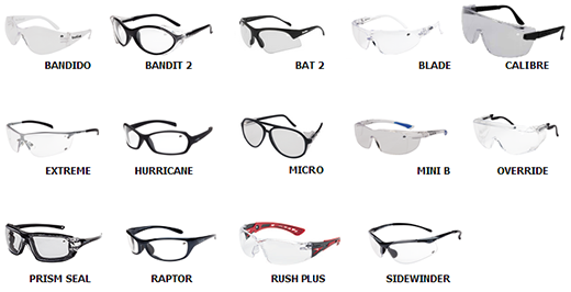 A wide range of Bolle Safety Glasses