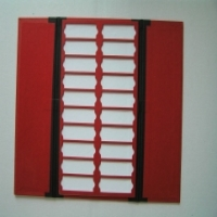 Red slide tray, 20 place